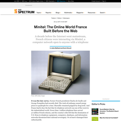Minitel: The Online World France Built Before the Web - IEEE Spectrum