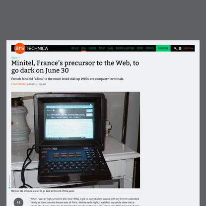 Minitel, France's precursor to the Web, to go dark on June 30