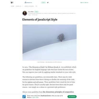 Elements of JavaScript Style - JavaScript Scene - Medium