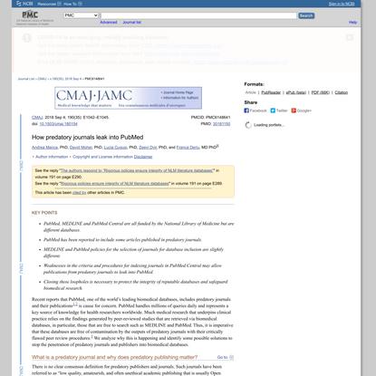 How predatory journals leak into PubMed