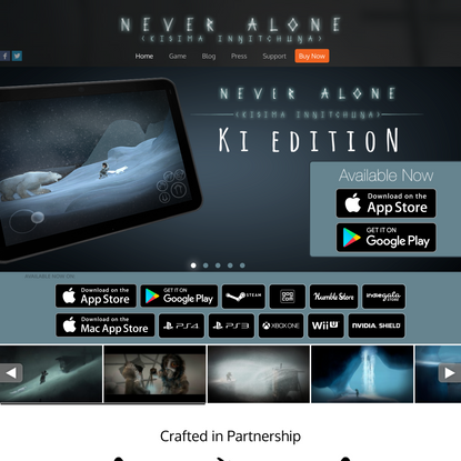 Never Alone - Homepage