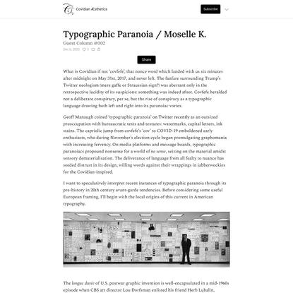 Typographic Paranoia / Moselle K.
