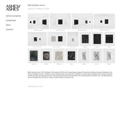ASHES/ASHES - Miles Hendricks / mmuurr
