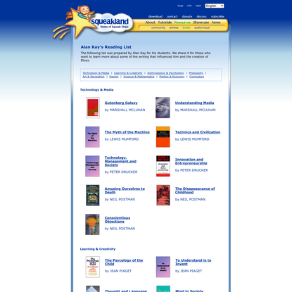 squeakland : resources : books : reading list