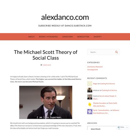 The Michael Scott Theory of Social Class