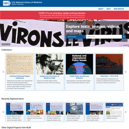 Digital Collections - National Library of Medicine