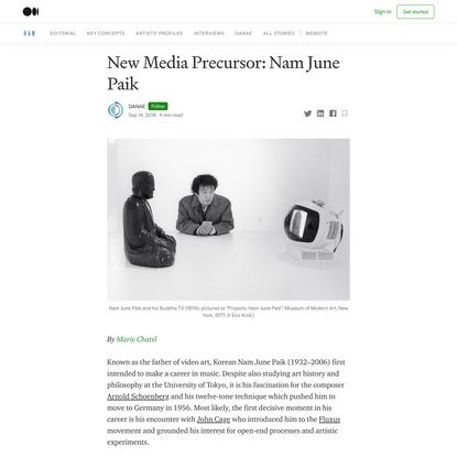 New Media Precursor: Nam June Paik