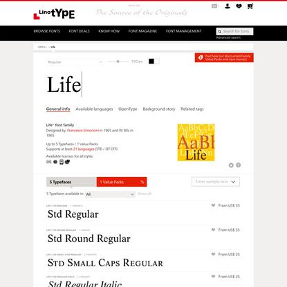 Life® font family | Linotype.com