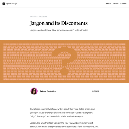 Jargon and Its Discontents