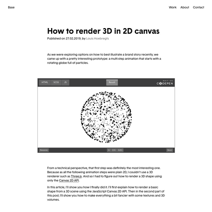 How to render 3D in 2D canvas