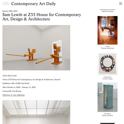 Contemporary Art Daily » Blog Archive » Sam Lewitt at Z33 House for Contemporary Art, Design & Architecture