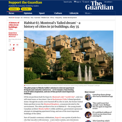 Habitat 67, Montreal's 'failed dream' – a history of cities in 50 buildings, day 35