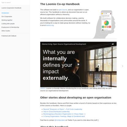 Introduction · Loomio Cooperative Handbook