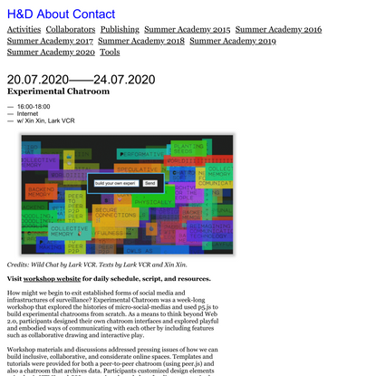 Experimental Chatroom • H&D