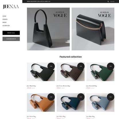 JEENAA – Elegant handbags, designed in England. Free UK delivery