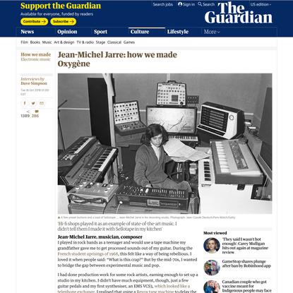 Jean-Michel Jarre: how we made Oxygène