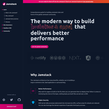 For fast and secure sites | Jamstack