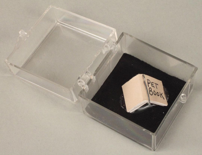 """Center for Book Arts on Instagram: """"""""Pet Book"""" by James Prez (1988). Clear plastic case that contains a miniature book with ..."""