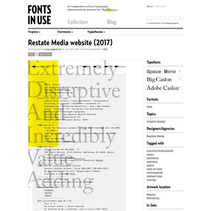 Restate Media website (2017)