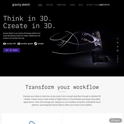 Gravity Sketch | 3D design and modelling software