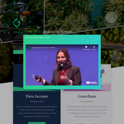 GainForest: Technology for Nature.