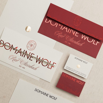 """Zwupp ️ Design & Film️ on Instagram: """"Together with @studioleichtfried we created the brand identity for Domaine Wolf, a win..."""
