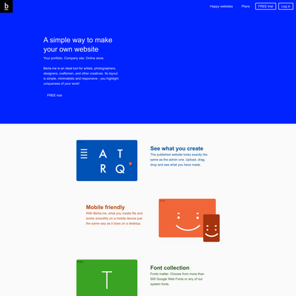 Berta.me – Make your website   Classy and mobile-friendly themes