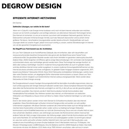 Degrow Design