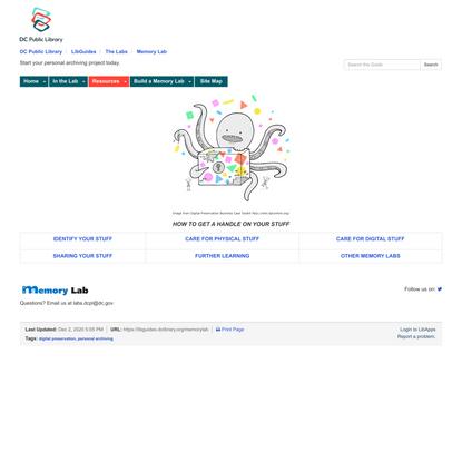 LibGuides: Memory Lab: Resources