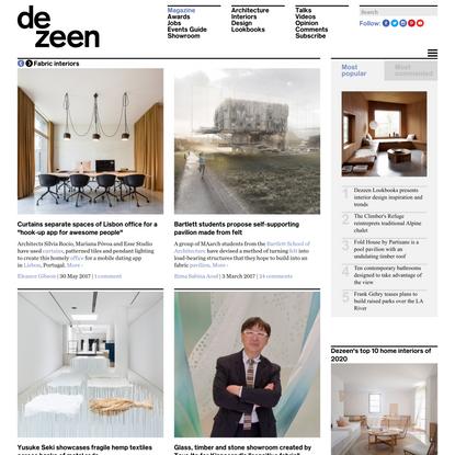 Interiors featuring fabric structures | Dezeen