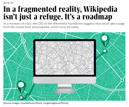 In a fragmented reality, Wikipedia isn't just a refuge. It's a roadmap