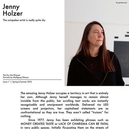 The Gentlewoman – Jenny Holzer