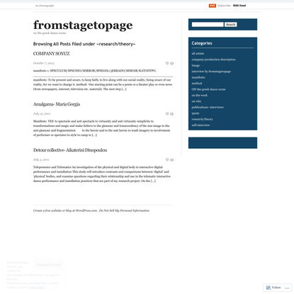 research/theory – fromstagetopage