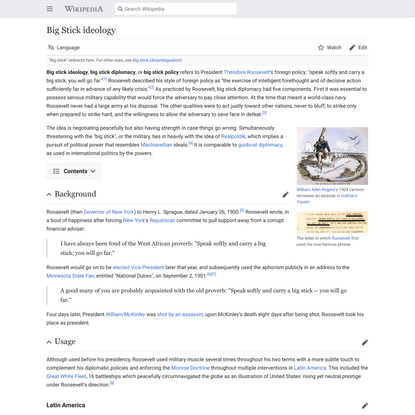 Big Stick ideology - Wikipedia