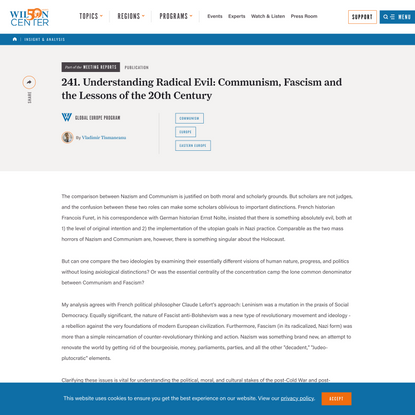 241. Understanding Radical Evil: Communism, Fascism and the Lessons of the 20th Century