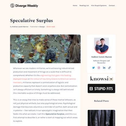 Speculative Surplus