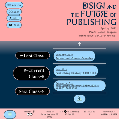 Design and the Future of Publishing SP21