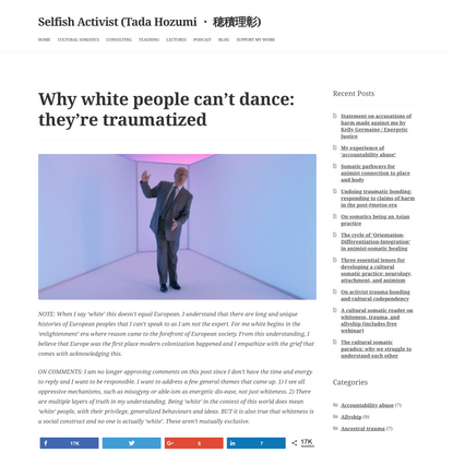 Why white people can't dance: they're traumatized