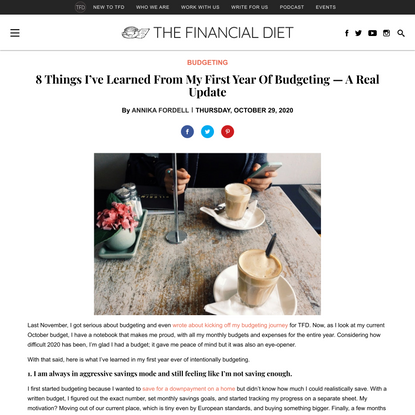 8 Things I've Learned From My First Year Of Budgeting — A Real Update