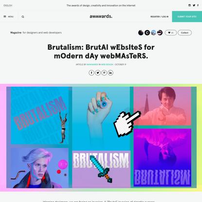 Brutalism: BrutAl wEbsIteS for mOdern dAy webMAsTeRS.