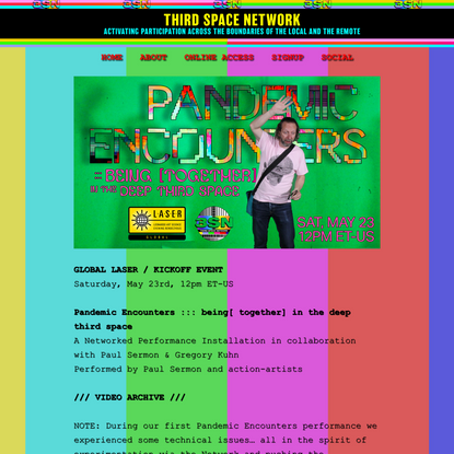 Pandemic Encounters ::: being [together] in the deep third space - Third Space Network