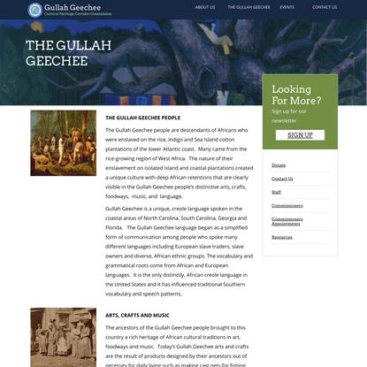 THE GULLAH GEECHEE – Gullah Geechee Cultural Heritage Corridor