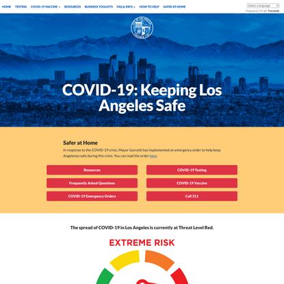 COVID-19: Keeping Los Angeles Safe