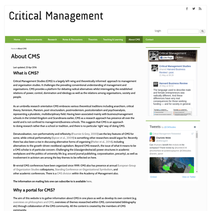 About CMS