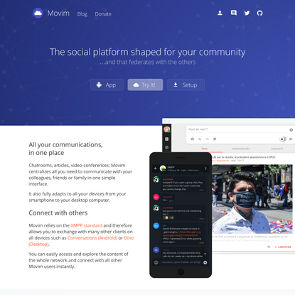 Movim – Responsive web-based cross-platform XMPP client