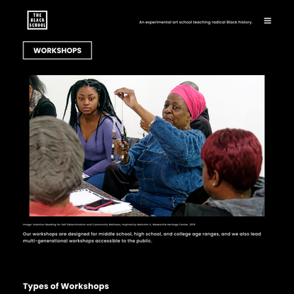 Workshops - The Black School