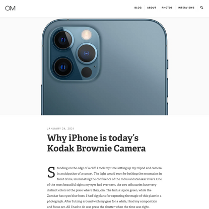 Why iPhone is today's Kodak Brownie Camera