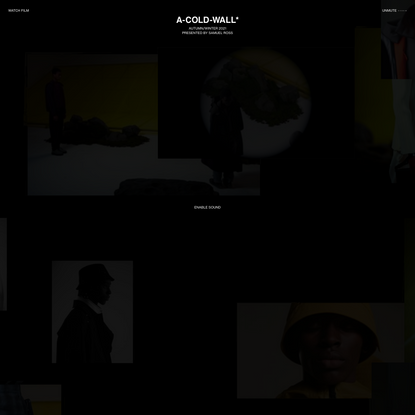 A-COLD-WALL* AUTUMN/WINTER 2021