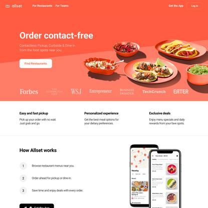 Allset: Order Ahead at Local Restaurants
