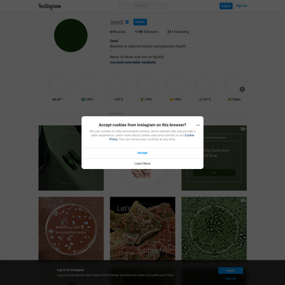 Seed (@seed) • Instagram photos and videos